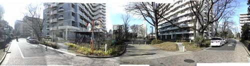 東京スタディアム跡地に建つ団地群