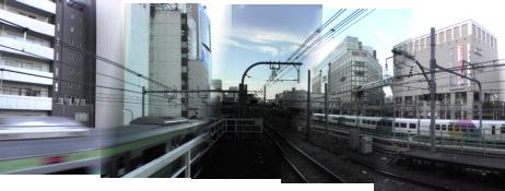 夕暮れちかいJR代々木駅