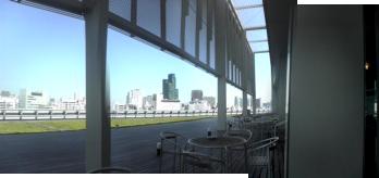 会社の7階テラスから見た赤坂方向