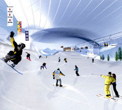 ドバイ室内滑雪場の完成予想図